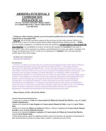armonía funcional y composición pedagógicas. - Monografias.com