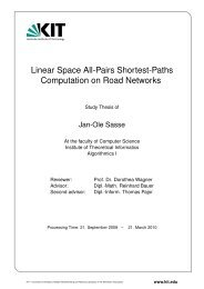 Linear Space All Pairs Shortest Paths - Algorithmik I - Karlsruher ...