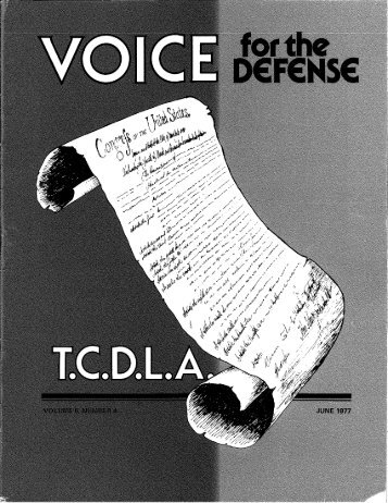 1 - Voice For The Defense Online