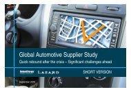Global automotive supplier study 2010 - Roland Berger