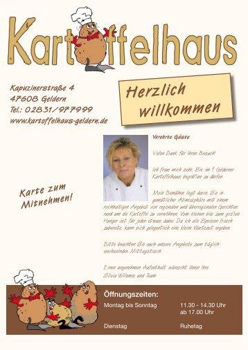 Speisekarte als PDF - Kartoffelhaus Geldern