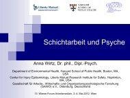 Anna Wirtz: Schichtarbeit und Psyche - Österreichische ...