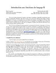 Introduction aux fonctions du langage R - Laboratoire de Pierre ...