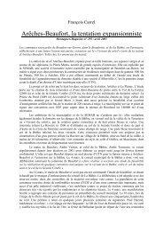 Arêches-Beaufort, la tentation expansionniste - Canalblog