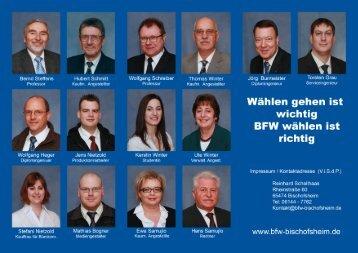 Flyer - Bischofsheimer Freie Wählergemeinschaft