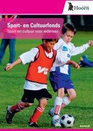 Sport- en Cultuurfonds - Gemeente Hoorn