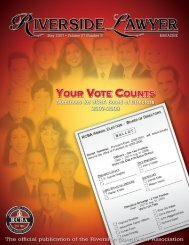 Your Vote Counts - Riverside County Bar Association