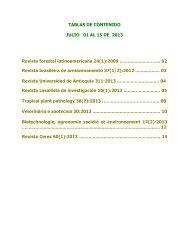TABLAS DE CONTENIDO JULIO 01 AL 15 DE 2013 Revista forestal ...