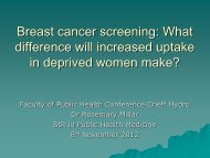 How many extra breast cancers can be detected and lives saved if ...