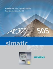New Operator Station for SIMATIC PCS 7/505 - Siemens Industry, Inc.