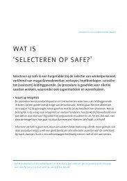 wat is 'selecteren op safe?'