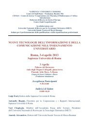 Roma, 3-4 aprile 2013 - Dipartimento di Comunicazione e Ricerca ...