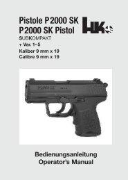 Pistole P2000 SK P2000 SK Pistol - Waffen Braun