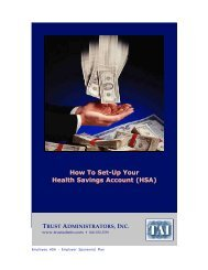 How to Set Up Your HSA - Trust Administrators, Inc.