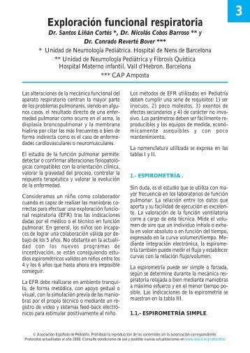 Exploración funcional respiratoria - Asociación Española de Pediatría