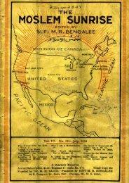 1930 - The Muslim Sunrise