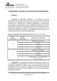 progressão funcional por capacitação profissional - Reitoria ...