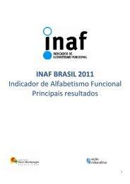 INAF BRASIL 2011 Indicador de Alfabetismo Funcional Principais ...