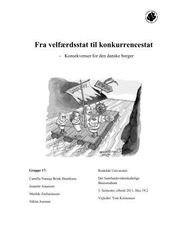 Fra velfærdsstat til konkurrencestat - Roskilde Universitet
