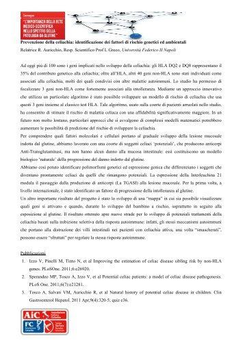 Prevenzione della celiachia: identificazione dei fattori di rischio ...