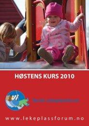 Høstens kurs 2010.indd - FAGUS