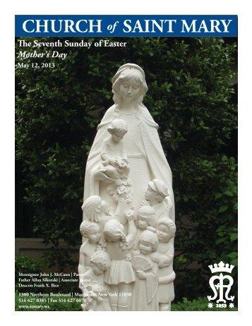 Sunday, May 12, 2013 - St. Mary's Roman Catholic Church