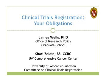 Clinical Trials Registration - University of Wisconsin–Madison