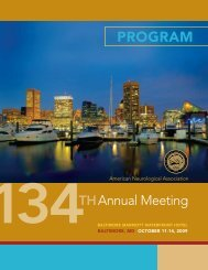 program - American Neurological Association