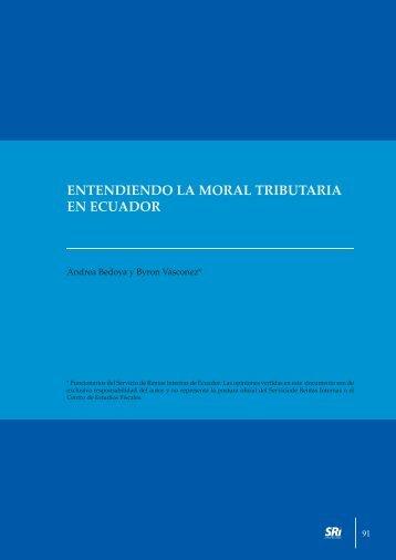 Entendiendo la moral tributaría en Ecuador - Centro de Estudios ...