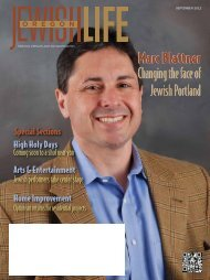 report - Oregon Jewish Life Magazine