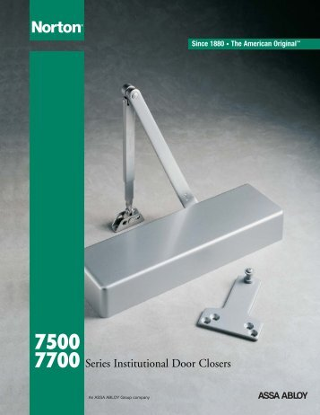 7500 7700 Series Institutional Door Closers - Madero