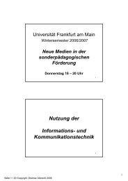 26.10.06 - Neue Medien in der sonderpädagogischen Förderung