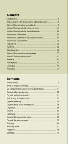 Mahepõllumajandus Eestis 2011 / Organic farming in ... - Maheklubi - Page 4