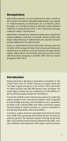 Mahepõllumajandus Eestis 2011 / Organic farming in ... - Maheklubi - Page 5
