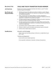 CHILD AND YOUTH TRANSITION HOUSE WORKER
