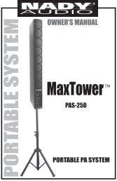 MaxTower™ PAS-250 - Nady
