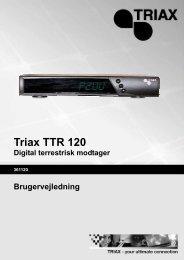 Triax TTR 120 Digital terrestrisk modtager Brugervejledning