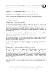 Fachgebiet Architekturtheorie • Prof. Dr.-Ing. Fritz Neumeyer