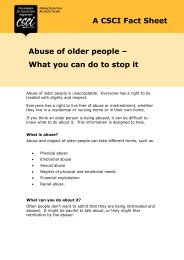 A CSCI Fact Sheet Abuse of older people – What you can do to stop it
