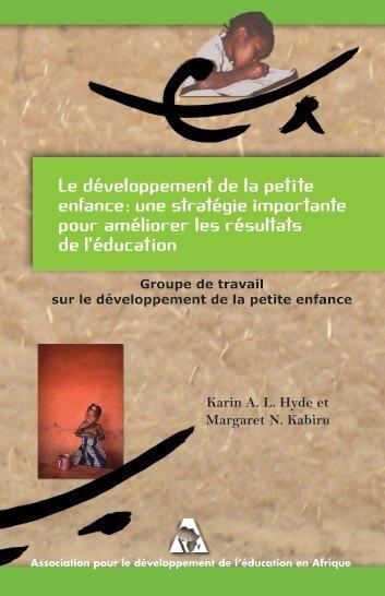 Le développement de la petite enfance : une stratégie ... - ADEA