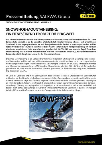 snowshoe-mountaineering (pdf) - Salewa