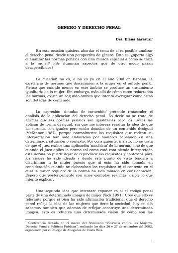 GENERO Y DERECHO PENAL - IIDH