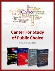 Center For Study of Public Choice - George Mason University