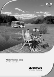Technical Information Motorhomes 2013 (4,3 MB) - Dethleffs