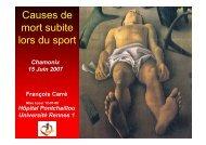 Causes de mort subite lors du sport - Club des Cardiologues du Sport