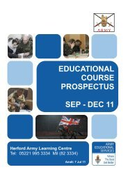 educational course prospectus sep - dec 11 - British Forces Germany
