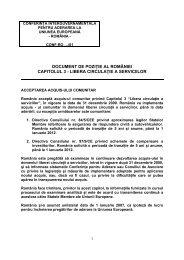 libera circulaţie a serviciilor - Consiliul Legislativ