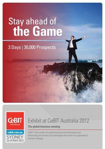 Stay ahead of - CeBIT Australia