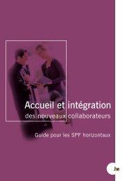 Accueil et intégration des nouveaux collaborateurs (PDF ... - Fedweb