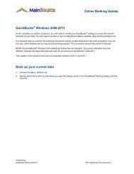 Online Banking Update QuickBooks Windows ... - MainSource Bank